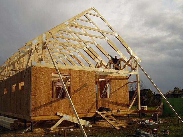 балки перекрытия каркасного дома