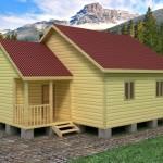 Дачный домик из бруса 56,2 м²