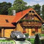 Дом из бруса с мансардой 158 м²