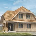 Дом из бруса с мансардой 144 м²