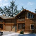 Дом из бруса с мансардой 200 м²