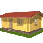 Дачный домик из бруса 47,5 м²