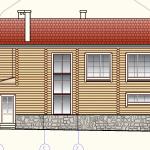 Дома из оцилиндрованного бревна, два этажа, 256 м²