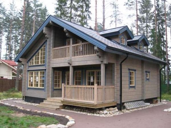 дом с мансардой фото деревянный