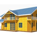 Площадь 204 м², крытая терраса, балкон