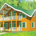 Площадь 235 м² с мансардой, крытая терраса, балкон