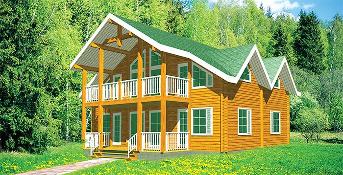 Площадь 235 м? с мансардой, крытая терраса, балкон дома, дом.