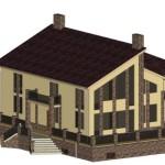 Площадь 330 м², с террасой, с кухней-столовой