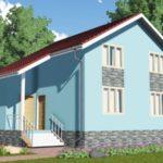 Проект дома из сип панелей с мансардой 134 м2