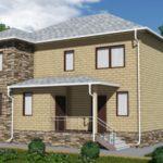 Проект двухэтажного дома из сип панелей 258 м2