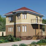 Проект двухэтажного дома из сип панелей 106 м2