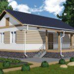 Проект одноэтажного дома из сип панелей 70 м2