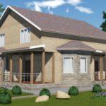 Проект дома из сип панелей с мансардой 241 м2