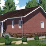 Проект одноэтажного дома из сип панелей 90 м2