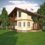Проект одноэтажного дома из сип панелей 98 м2